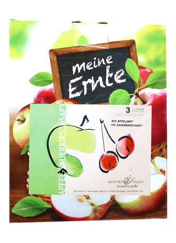 Apfel - Sauerkirschsaft 3l Bag in Box
